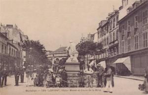 Cours de la Bôve - vue du haut du cours, depuis la statue de Victor Massé