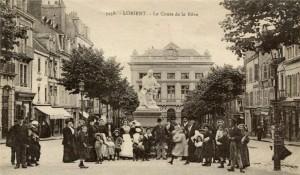Cours de la Bôve - vue du bas du cours, depuis la statue de Victor Massé