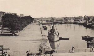 Quai des Indes - vue depuis le début du bassin à flot