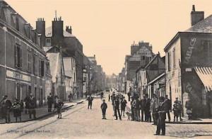 Rue Carnot - vue depuis le quai de Rohan, à hauteur du pont tournant