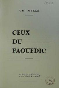 Ceux du Faouëdic - Ch Merle