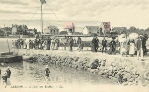 Larmor - Le quai (la cale) de la plage du Toulhars